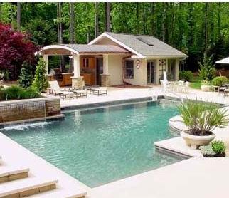 Modern Pool & Landscape Design - Moon Br