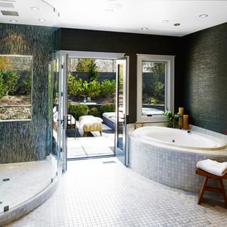Custom Tub & Shower Modern Rustic Apple