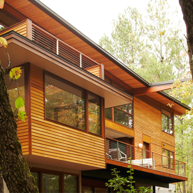 Modern Rustic Treehouse Exterior Modern