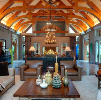 Modern Rustic Living Room  - Moon Brothe