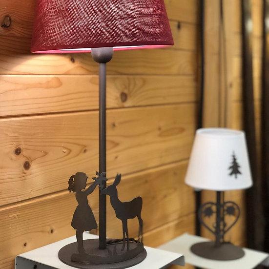 02. Lampada DA TAVOLO con Bimba e bambi