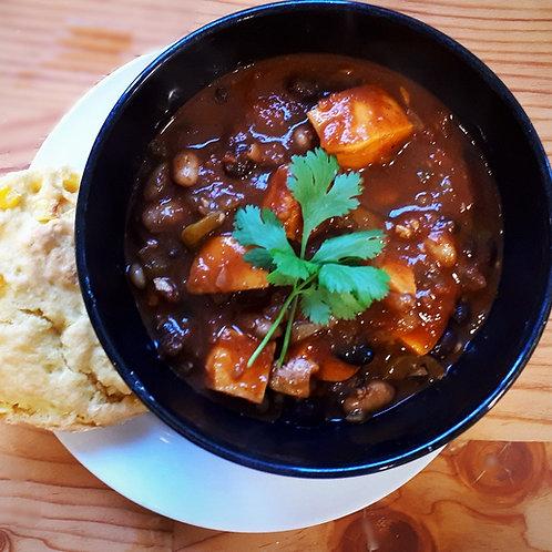 Vegan Sweet Potato and Black Bean Chili