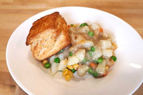 Veggie Pot Pie served with Buttermilk Biscuits