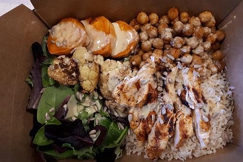Roasted Cauliflower and Sweet Potato Carnivore Bowl