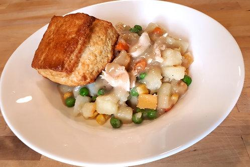 Chicken Pot Pie served with Buttermilk Biscuits