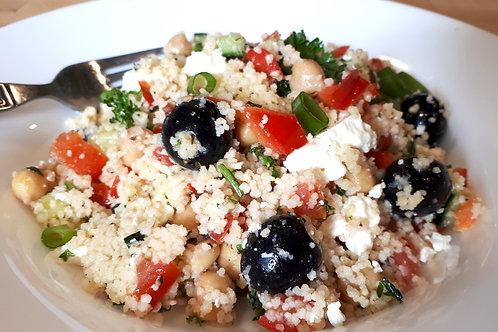Mediterranean Couscous Salad with Lemon-Herb Dressing