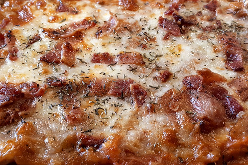 Cabbage Roll Casserole with Bacon and Cheese