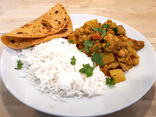Chicken, Potato and Chick Pea Coconut Curry
