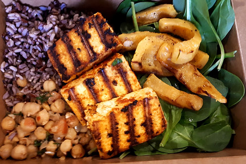 Roasted Delicata Squash and Mixed Wild Rice Hippie Bowl
