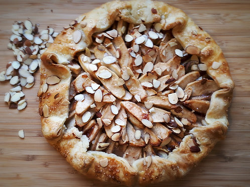 "(Vegan) 10"" Apple Crostata with Toasted Almonds"