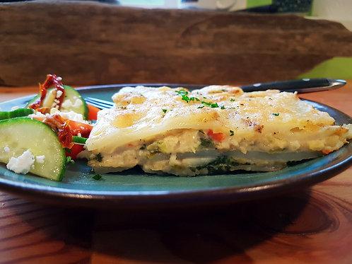 Vegetarian Potato Cheese Pie