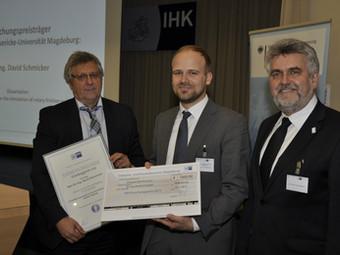 IHK Magdeburg verleiht Forschungspreis 2015 an Herrn Dr. David Schmicker