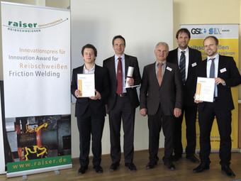 Die Reibschweißsimulation gewinnt den zweiten Platz beim Raiser Innovationspreis 2015