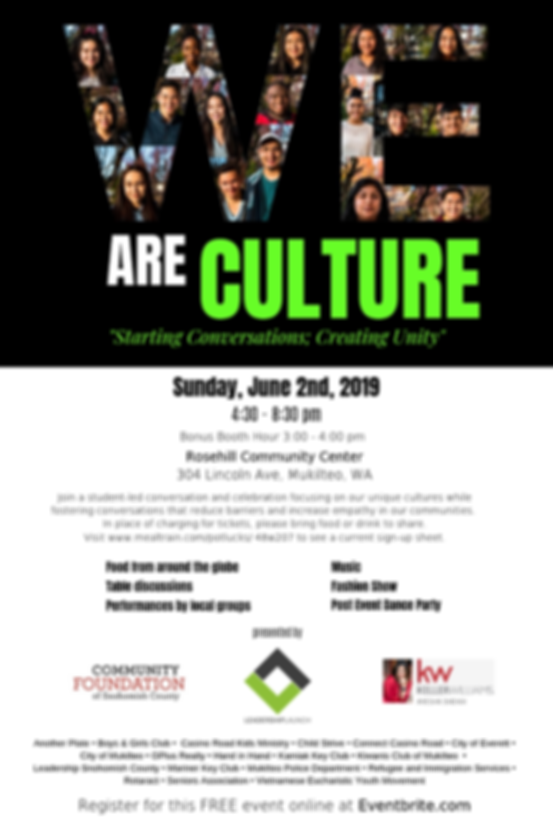 We Are Culture Flyer with Partners (PNG)