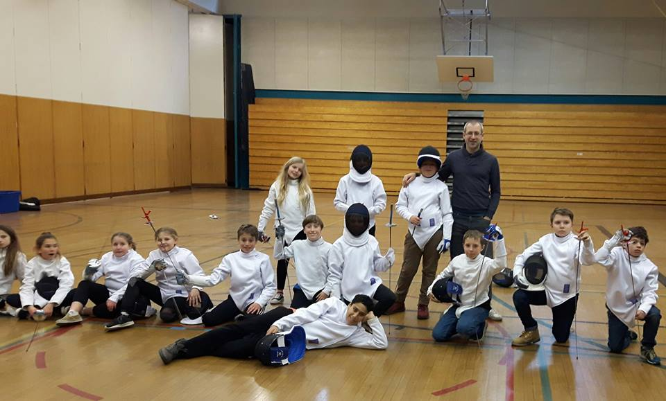 OSM Fencing youth fencers