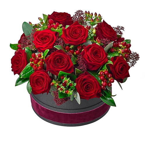 Deluxe Rose Hat Box