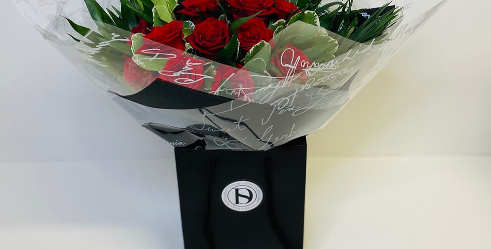 Red Rose & Foliage Bouquet