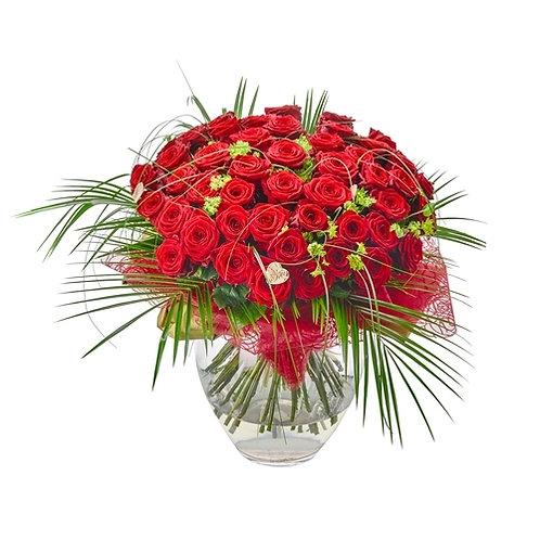 100 Luxury Red Roses