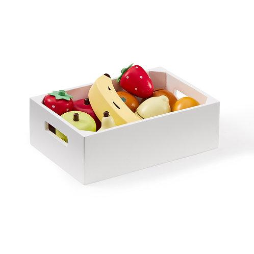 Houten fruit mix in krat
