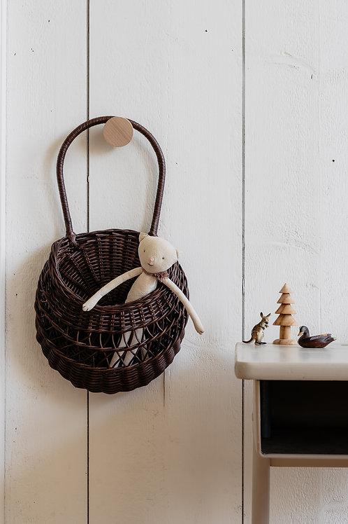 Meri-Lou - Wall basket Emilou (dark brown)