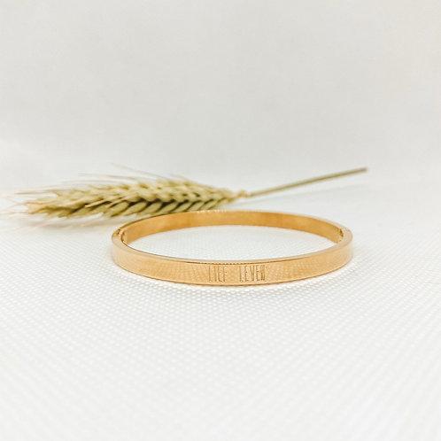 Armband goudkleurig Lief Leven