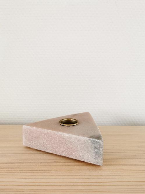 Kandelaar marmer roze
