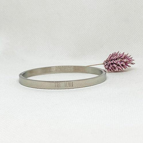 Armband zilverkleurig Lief Leven