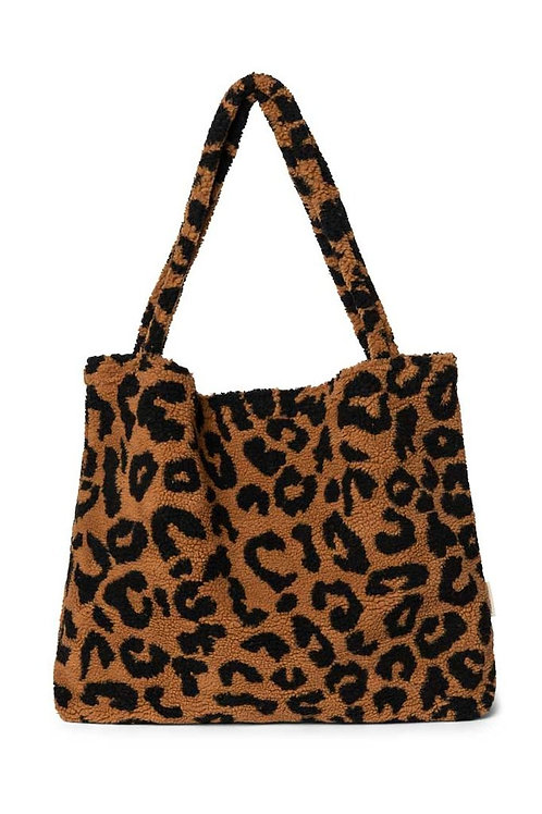 Studio Noos Mom Bag chunky teddy leopard brown