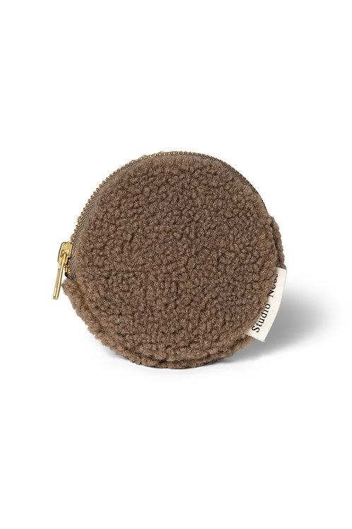 Studio Noos chunky wallet rits portemonnee bruin