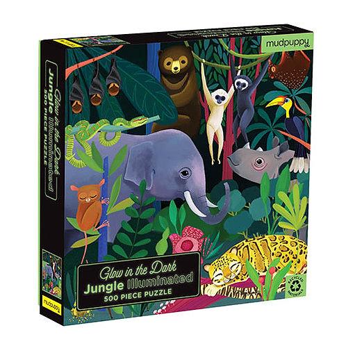 Glow in the dark puzzel - Jungle