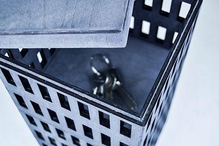 Hide storage box oppbevaring bokser - design by Malin Steffen Berg