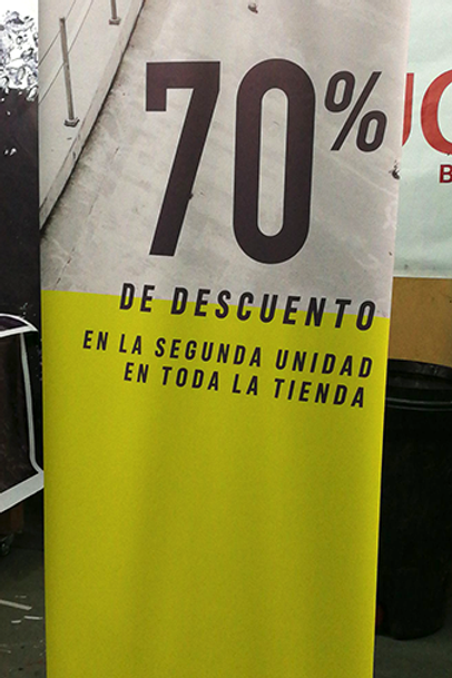 BANNER CON PORTABANNER ROLL UP