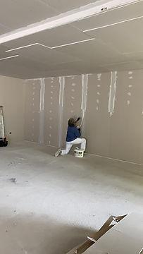 sistemazione pareti in cartongesso