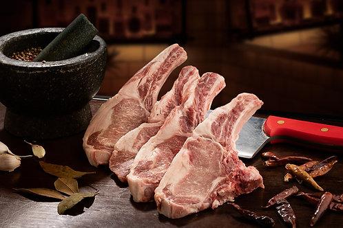 Costeletas de Porco Preto Ibérico (4 Fatias | Aprox. 700 Gr)