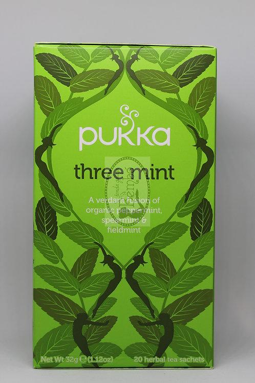 Té orgánico de tres mentas Pukka