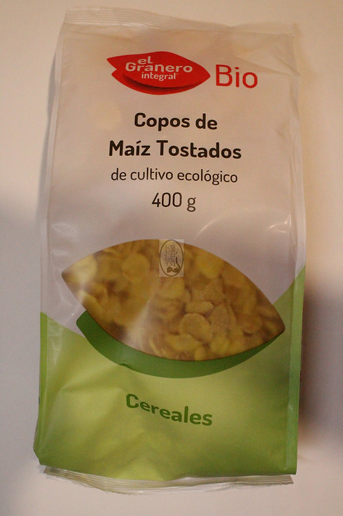 Copos de maíz tostado bio 400 gr