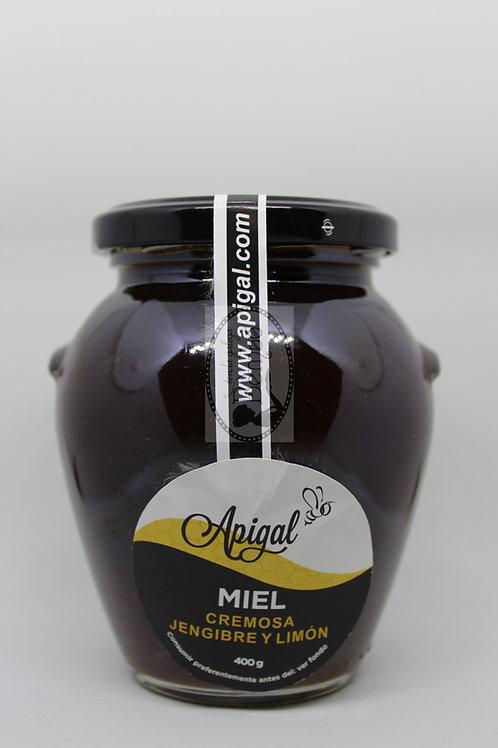 Miel cremosa Jengibre y limón 400gr