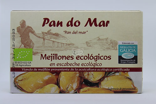 Mejillones ecológicos en escabeche ecológico Pan do Mar