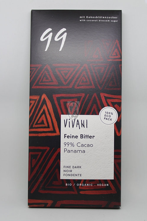Chocolate 99% Cacao Panama Vivvani