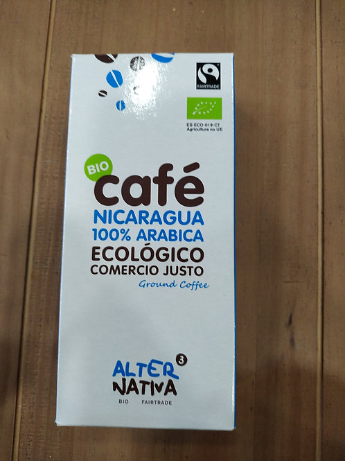 Café molido Nicaragua 100% arábica Comercio Justo 250g