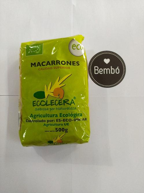 Macarrones trigo duro 500gr bio