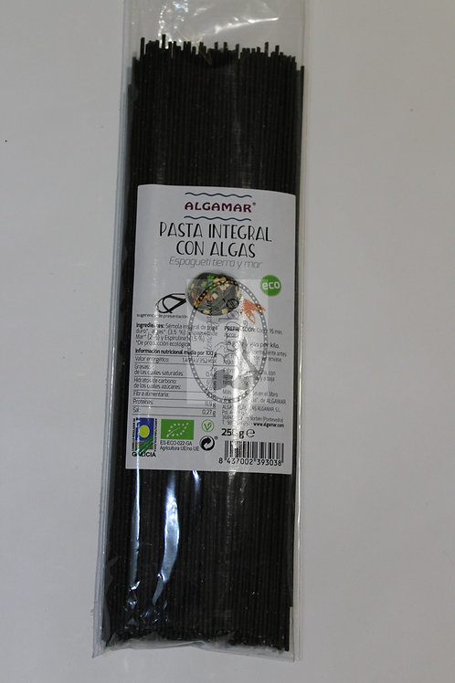 Pasta integral con algas 250 gr