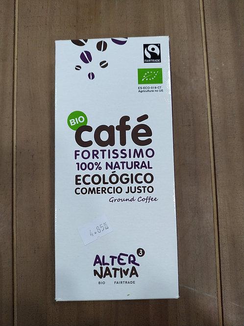 Café fortísimo 100% natural comercio justo 250 g