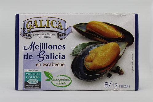 Mejillones de Galicia en escabeche 8/12 piezas