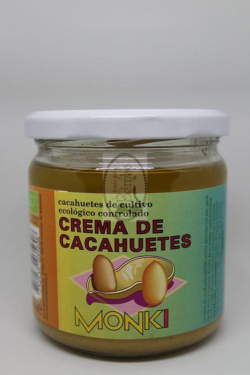 Crema de cacahuetes Monki 330 gr.