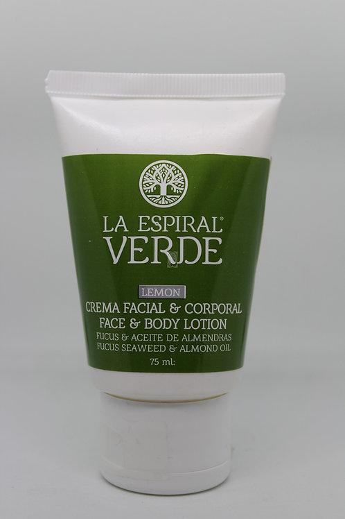 La Espiral Verde Crema de Algas Facial y Corporal Limón - 75 ml