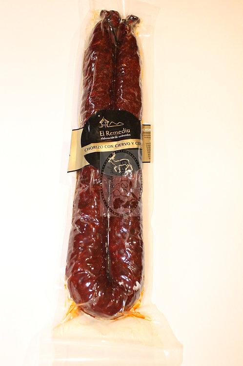 Chorizo con ciervo y cerdo El Remediu 400 gr.