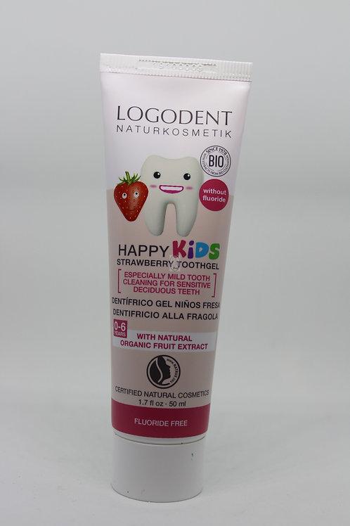 Pasta de dientes Fresa niños 50 ml Sin fluor