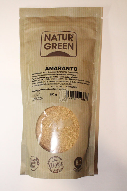 Amaranto en grano 450 gr