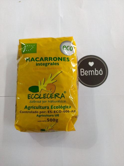 Macarrones integrales bio trigo duro 500 gr